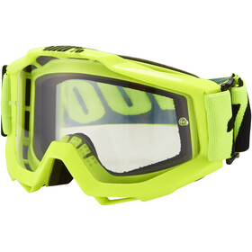 100% Accuri Anti Fog Clear Goggles fluo yellow